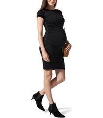 women's blanqi everyday maternity t-shirt dress, size medium/large - black