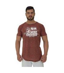 camiseta longline alto conceito anilhas no more excuses nuno marrom