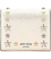 jimmy choo hanne wallet star studs