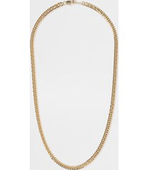 river island mens gold colour figaro chain necklace