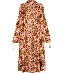 evi grintela love floral-print maxi dress - brown