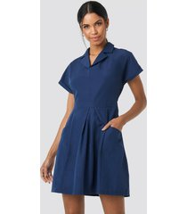 trendyol carmen pocket detailed dress - blue