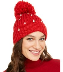 charter club charms beanie, created for macy's