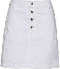 button up twill skirt kort kjol vit calvin klein jeans