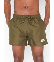 frank dandy breeze long swim shorts badkläder military