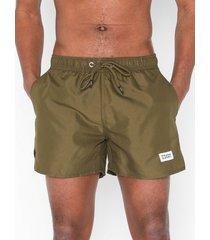 frank dandy breeze long swim shorts badkläder military