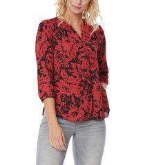 women's nydj pleat back blouse, size medium - green