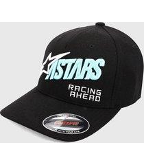 gorra negra-multicolor alpinestars title cap