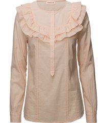 tricia blouse lange mouwen oranje custommade