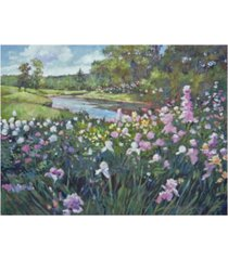 "david lloyd glover river spring garden canvas art - 37"" x 49"""