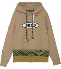 x missoni knit hoodie brown