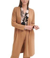 calvin klein french terry long cardigan, regular & petite sizes