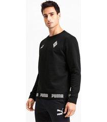 borussia mönchengladbach football culture sweater voor heren, zwart, maat l   puma