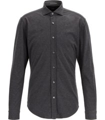 boss men's ridley slim-fit melange jersey shirt