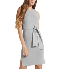 guess rib-knit tie-front bodycon dress