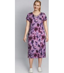 lane bryant women's livi strappy v-neck tie-dye midi dress 14/16 cassis