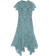 tatum guipure lace asymmetric midi dress