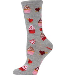 memoi cupcakes women's novelty socks