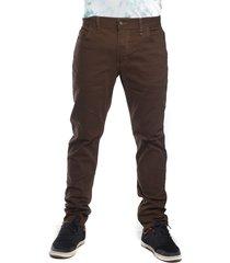 jeans skinny elasticado cafe oscuro oldtree