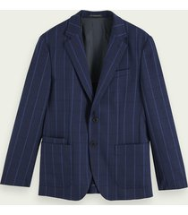 scotch & soda single-breasted gestructureerde blazer