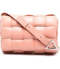bottega veneta padded cassette shoulder bag - pink
