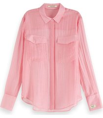 classic shirt in sheer quality sorbet pink