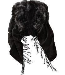 poncho alba moda svart