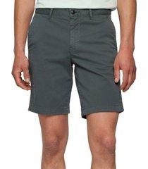 boss men's cotton twill slim-fit shorts