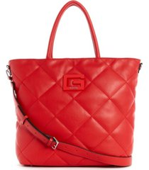 guess brightside quilted tote