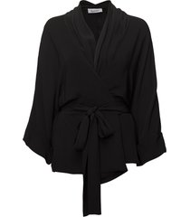 rodebjer tennessee twill kimonos svart rodebjer