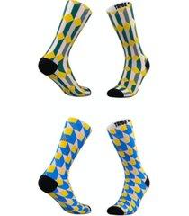men's and women's camo cat socks, set of 2