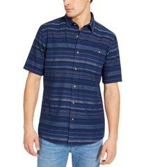 pendleton men's slim-fit kay street striped short sleeve shirt
