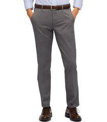 men's big & tall bonobos stretch weekday warrior slim fit dress pants, size 40 x 36 - grey