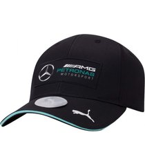 boné puma mercedes silver arrows bb - preto