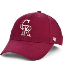 '47 brand colorado rockies cardinal mvp cap