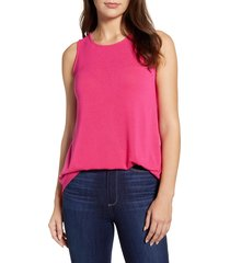 women's gibson x living in yellow millie cozy muscle tank, size xx-small - pink (regular & petite) (nordstrom exclusive)
