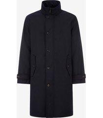 men's wool trench coat blue 56