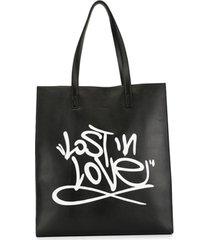 ports v bolsa tote com estampa de grafite - preto