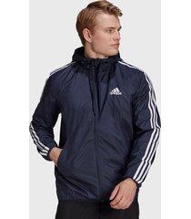 chaqueta corta viento adidas performance m 3s wv wb azul - calce regular