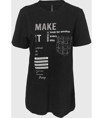 camiseta dimy bolso tricot preta - kanui