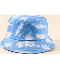casual sky clouds printed bucket hat