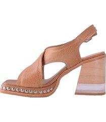 sandalia de cuero suela becca shoes priego