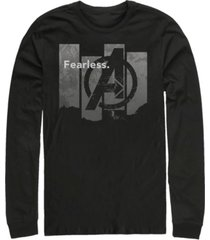 marvel men's avengers endgame fearless panel, long sleeve t-shirt