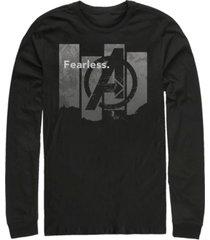 marvel men's avengers endgame fearless panel, long sleeve t-shirt