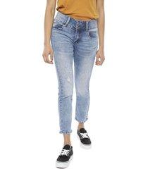 jeans il gioco megan strass bolsillo azul - calce ajustado