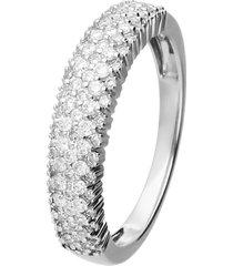 anello in oro bianco con diamanti 0,50 ct per donna