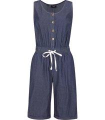 tuta in jeans di cotone con elastico largo in vita (blu) - bpc bonprix collection