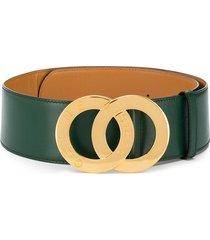 céline pre-owned logo plaque belt - green