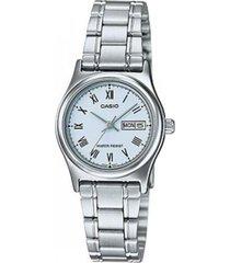 reloj analógico mujer casio ltp-v006d-2b - plateado con azul