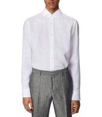 boss men's jason white shirt